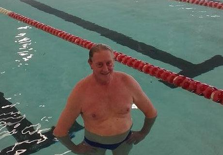 Geoff L'Estrange Swims 10km for Diabetes Queensland